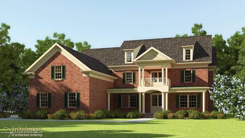 Front Elevation Rendering : D exterior rendering front elevation