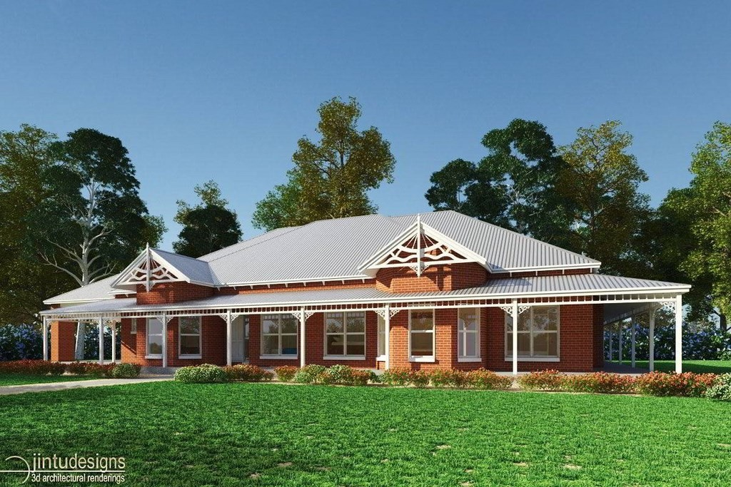 3d House Exterior Rendering