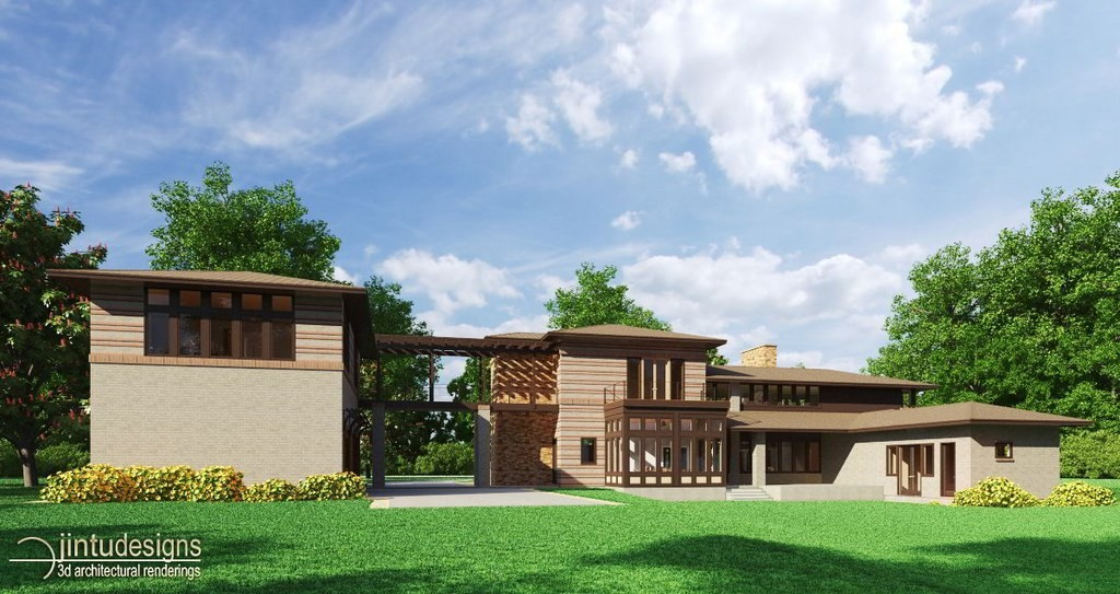 Rear Elevation Rendering