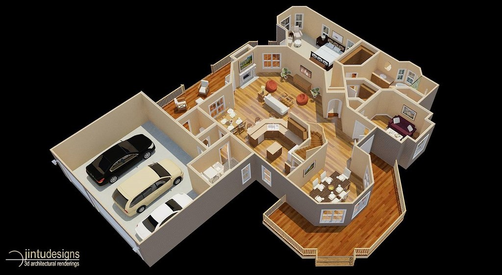 3d floor plan quality 3d floor plan renderings residential floor plans house plans