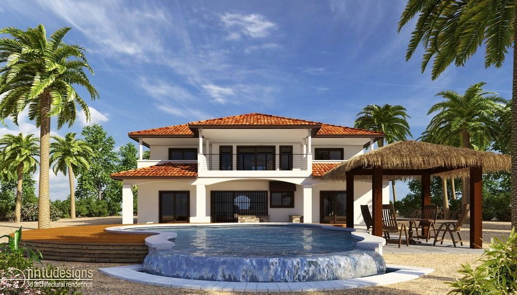 Beach House Rendering - Belize