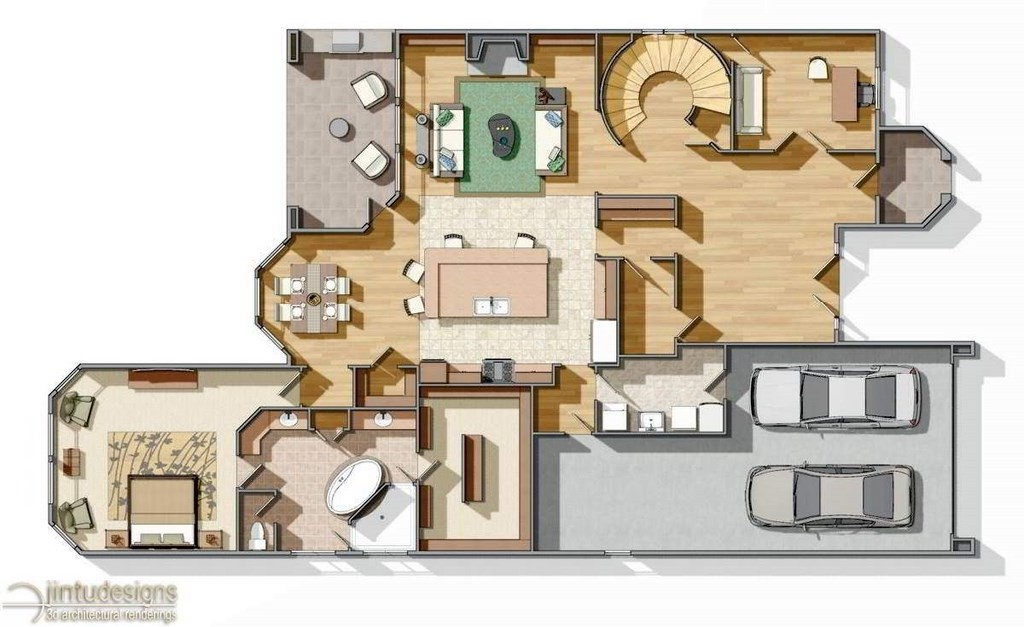 Color Floor Plan Residential Floor Plans – Rendered Site Plan