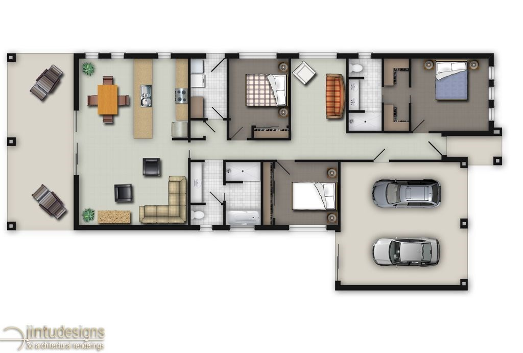 Color floor plan residential floor plans 2d floor plan for Residential floor plan design