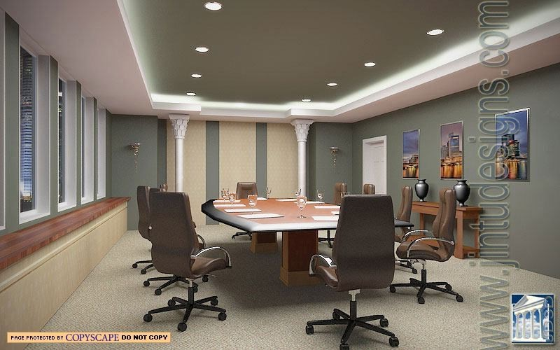 conference room rendering interior - Conference Hall Interior Design