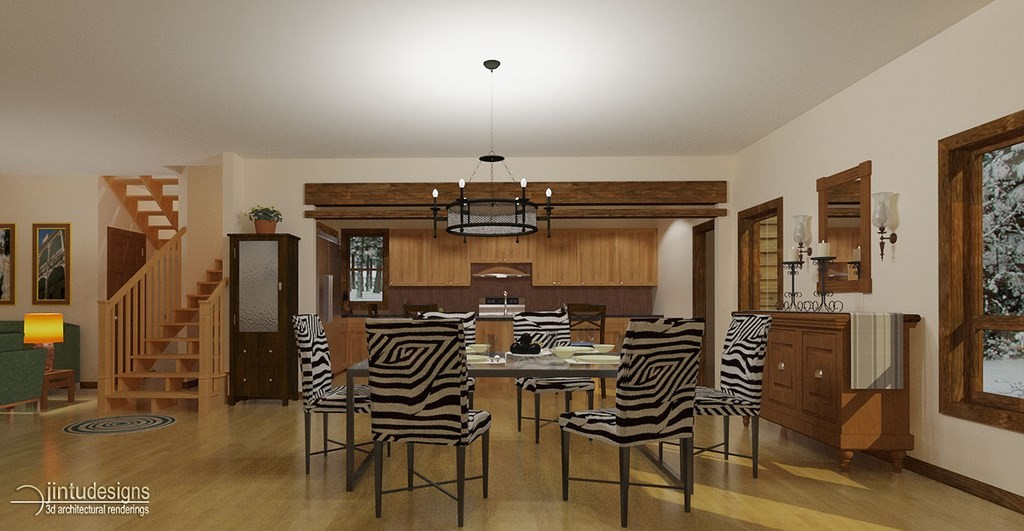 Dining - Kitchen Rendering