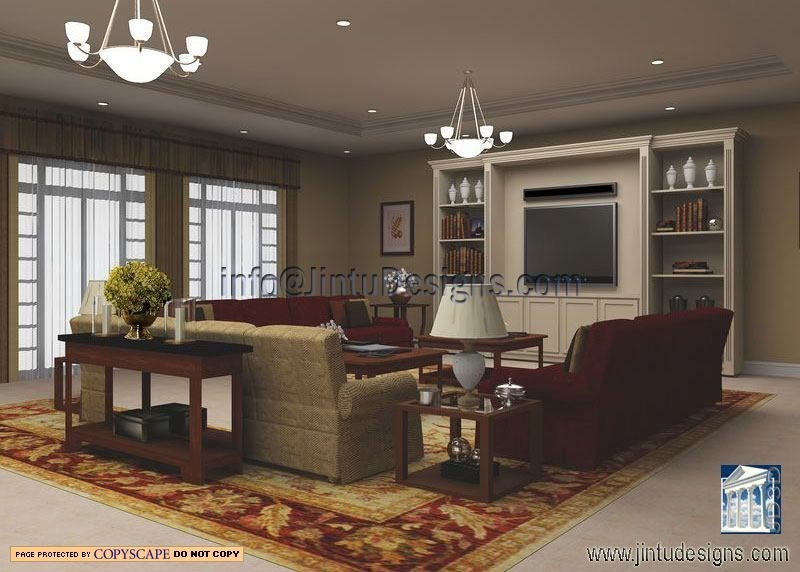 English Living Room Design And Rendering