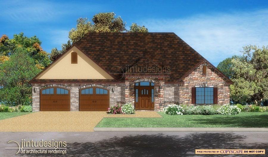 Front Elevation Rendering : D color elevation rendering