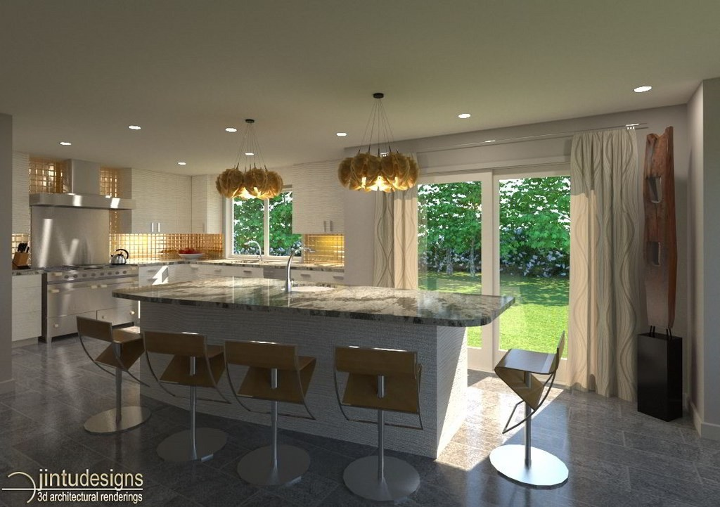 interior portfolio bureau design rendering kitchen gallery office com london