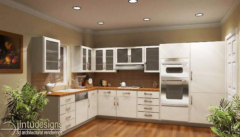 Kitchen Interior Rendering Design