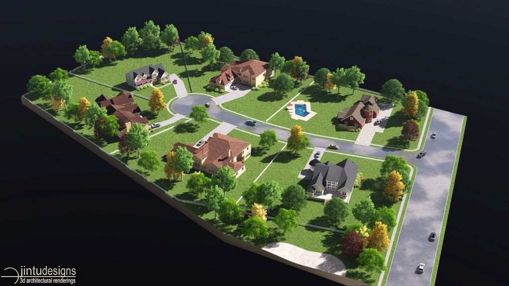 Plot plan 3d rendering 3d site