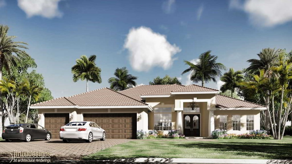 Cad House Floor Plans Single Family House With Patio 2d