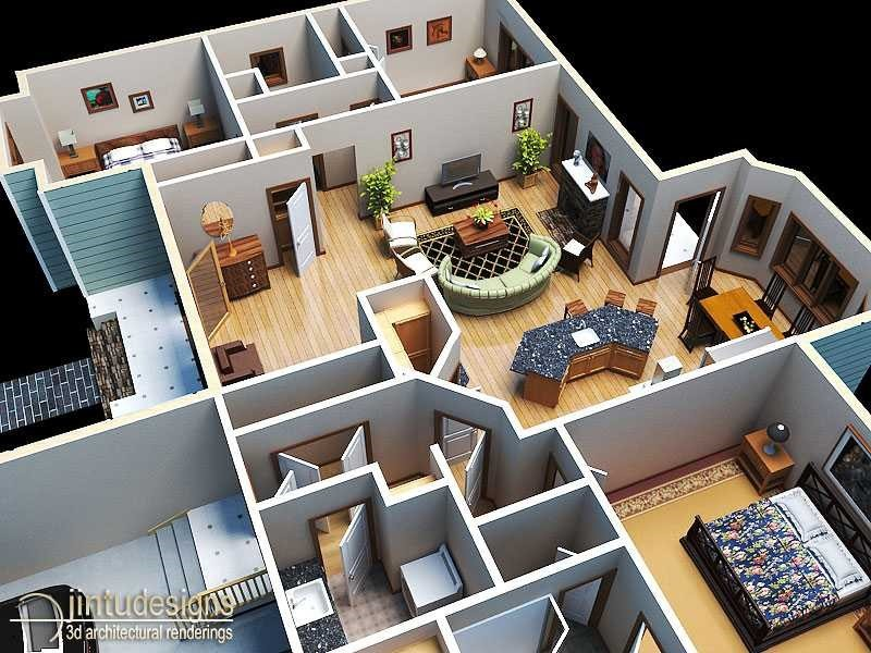 Residential Floor Plan Rendering