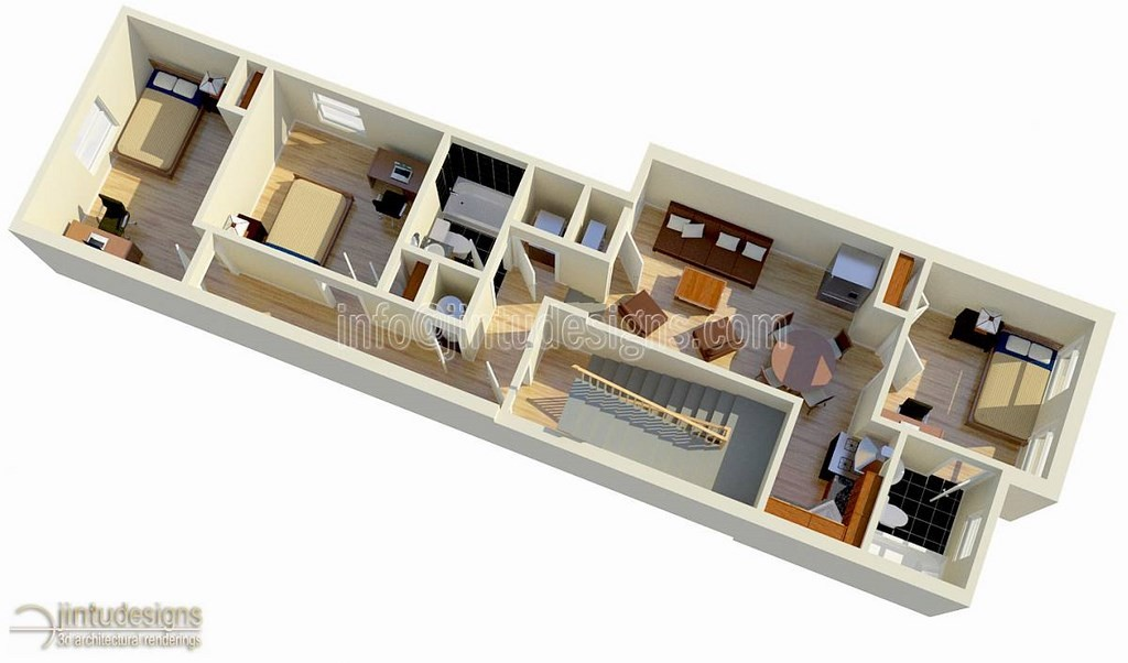 2nd floor plan rendering