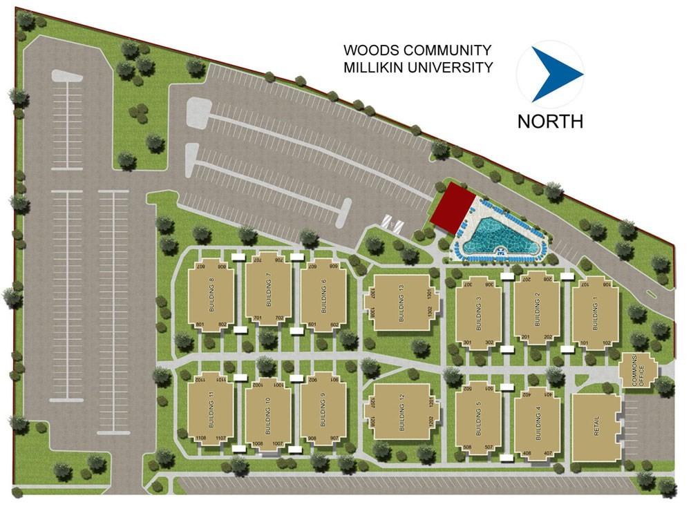 2d Site Plan Rendering Millikin University