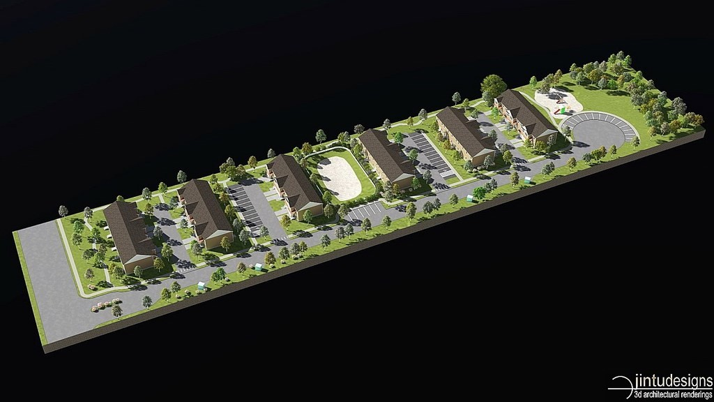 townhouse site development plan rendering