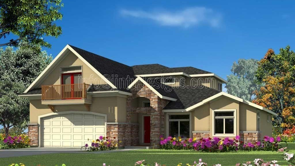 stock plan home rendering