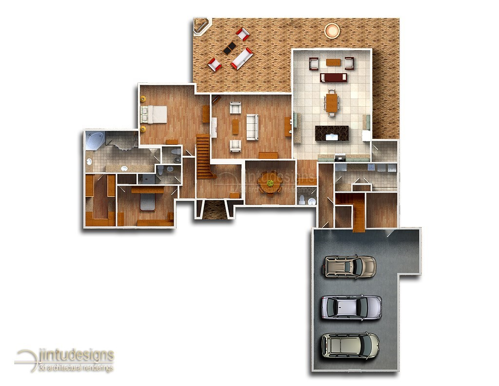 Color Floor Plan Residential Floor Plans D Floor Plan Renderings Home Floor Plans Color