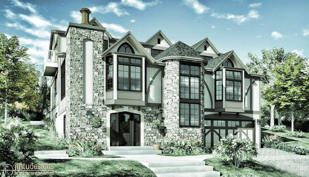 tudor revival architecture rendering