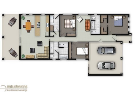 colored house plan