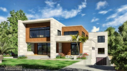 contemporary residential rendering