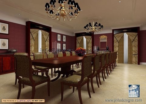 3d interior rendering realistic interior renderings Small dining rooms london