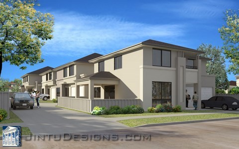 high-end apartment rendering