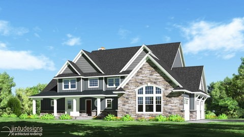 house exterior view rendering