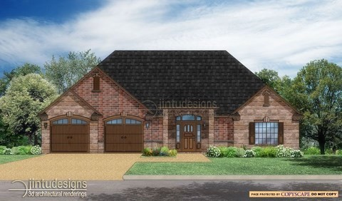 house front rendering