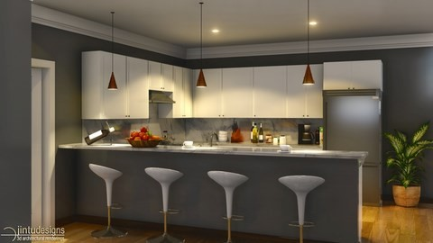 kitchen modeled in chief architect, rendered with lumion 6.5.1