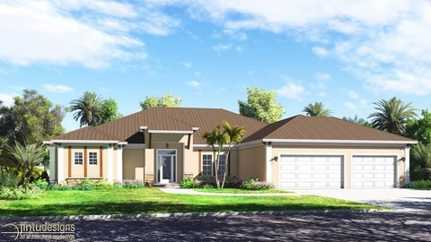 single family residential rendering