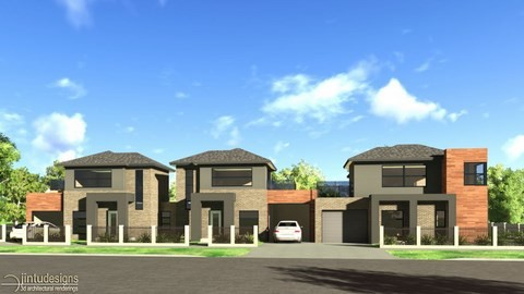 townhouse design rendering