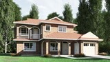 3d front elevation of house