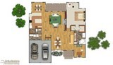 2d floor plan illustration