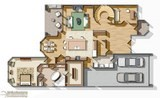 color floor plan rendering