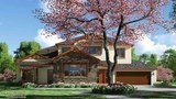 Exterior rendering - canadian country house