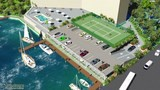 parking and marina site plan rendering