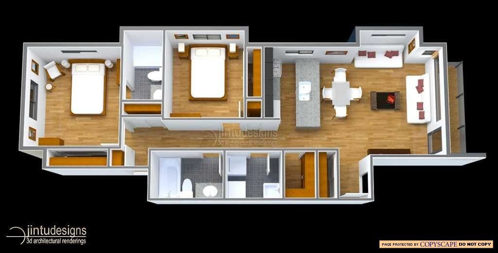 3 Bedroom First Floor House Plans