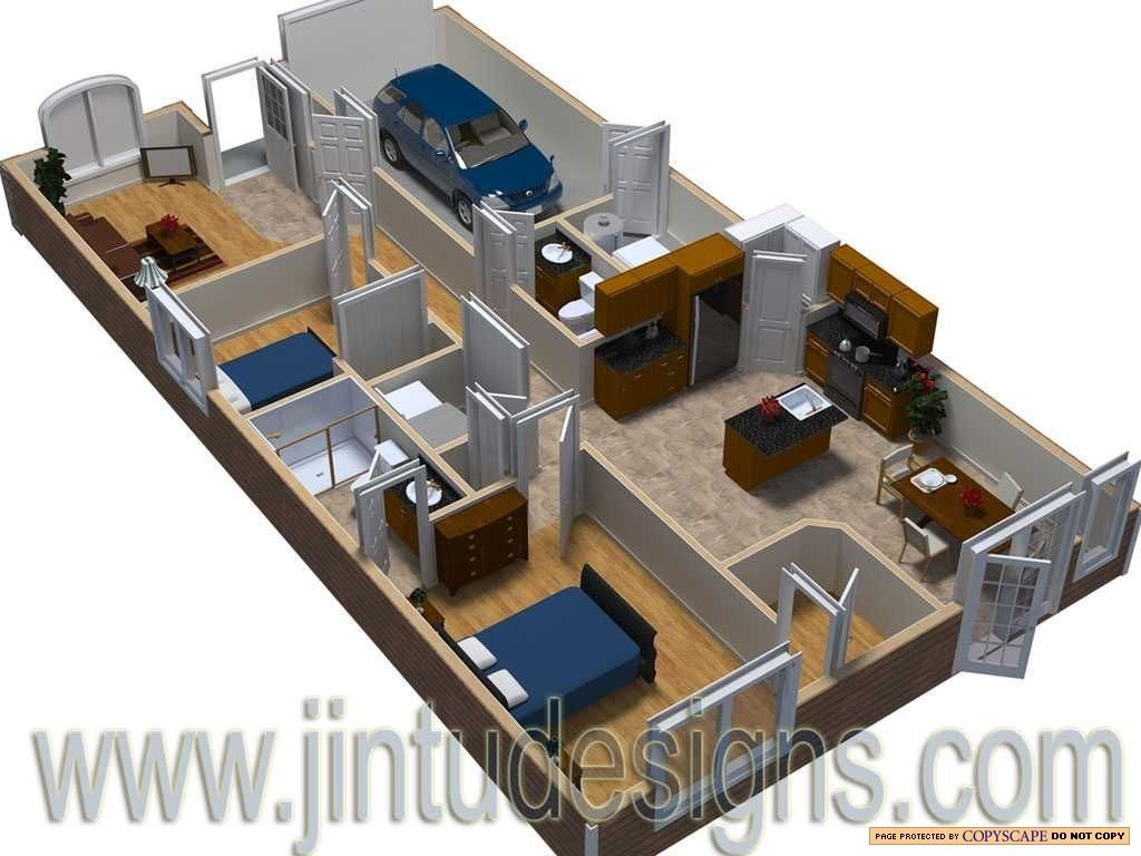 3d floor plan quality 3d floor plan renderings for One floor house design plans 3d
