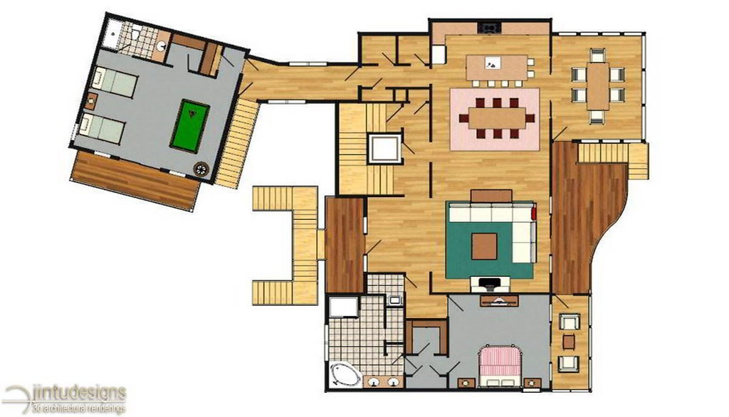 Floor plan rendering techniques thefloors co for Plan rendering ideas