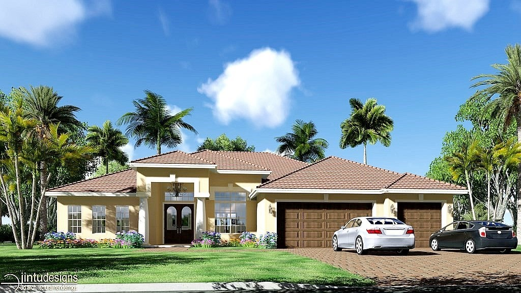 Rendering Of House Exterior Architectural 3d Exterior